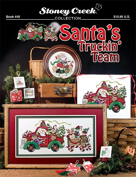 Stoney Creek - Santa's Truckn' Team - Cross Stitch Booklet