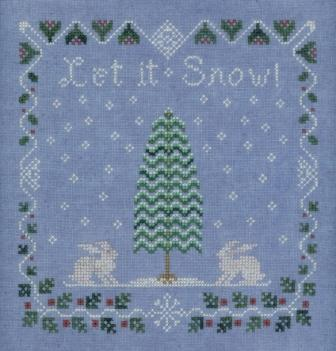 Elizabeth's Needlework Design - Snow Berry Sampler - Cross Stitch Pattern