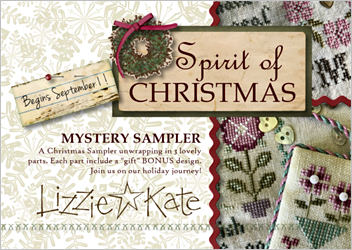 Lizzie Kate - Spirit of Christmas Mystery Sampler - Part 1-Lizzie Kate - Spirit of Christmas Mystery Sampler - Part 1