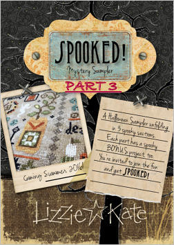 Lizzie Kate - Spooked! Mystery Sampler Club - Part 3-Lizzie Kate - Spooked Mystery Sampler Club - Part 3, Halloween, spooky, trick or treat, black cats, cross stitch