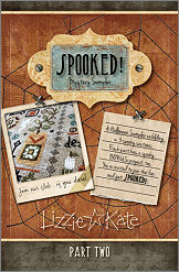 Lizzie Kate - Spooked! Mystery Sampler Club - Part 2-Lizzie Kate - Spooked Mystery Sampler Club - Part 2, Halloween, fall, cross stitch