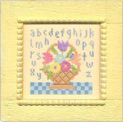 Lizzie Kate - Spring Basket - Snippet - Cross Stitch Chart
