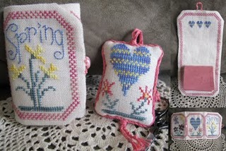 From The Heart - Spring Needlebook and Fob - Cross Stitch Charts