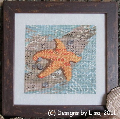 Designs by Lisa - Wish Upon A Starfish - Cross Stitch Pattern