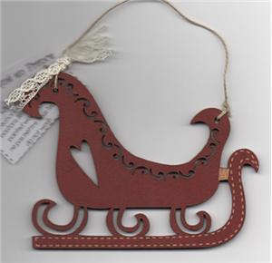 The Bee Company - Red Christmas Sleigh Ornament