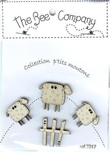 Bee Company, The - Little Sheep Buttons