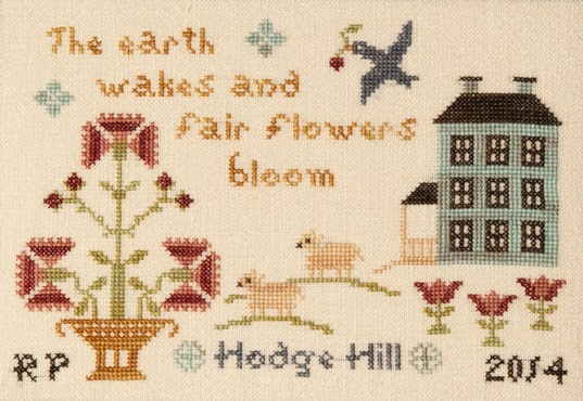 Threads of Memory - Springtime at Hodge Hill - Cross Stitch Pattern-Threads of Memory, Springtime at Hodge Hill, Beach Cottage Stitchers, Cross Stitch Pattern