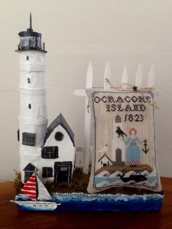 Twin Peak Primitives - Lighthouse Keeper-Twin Peak Primitives - Lighthouse Keeper, LIGHTHOUSE, OCEAN, PRIMITIVE, SHIPS, anchor, CROSS STITCH