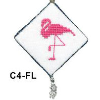 X's & Oh's - Tropical Charmings - Flamingo - Cross Stitch Chart Pack