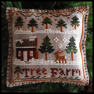 Little House Needleworks - Ornament of the Month 2012 - No. 02 - Tree Farm - Cross Stitch Pattern