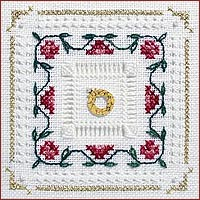 Victoria Sampler - Tudor Rose - Beyond Cross Stitch - Level 4 Four Sided Pull Stitch & Four Sided Hemstitch