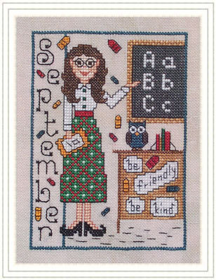 Whispered by the Wind - Elves of the North Pole - Part 09 of 12 - Miss September-Whispered by the Wind - Elves of the North Pole, Miss September, Christmas, Santa Claus, cross stitch,