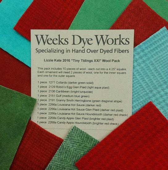 Weeks Dye Works Wool - Wool Pack for Lizzie Kate Tiny Tidings XXI
