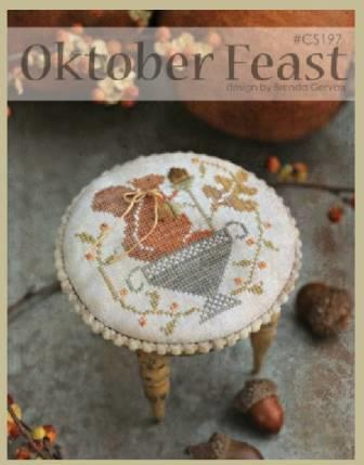 With Thy Needle & Thread - Oktober Feast-With Thy Needle  Thread - Oktober Feast, fall, squirrel, nuts, gathering, cross stitch,