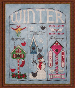 Whispered by the Wind - Winter Homes for December, January, February - Cross Stitch Pattern