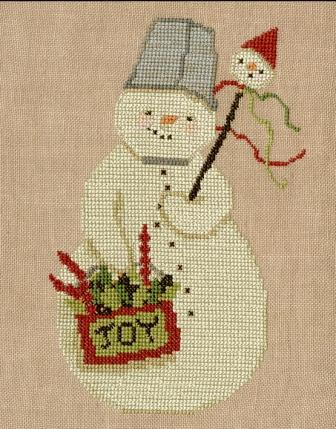 Teresa Kogut - Buckethead-Teresa Kogut - Buckethead, snowman, snow, winter, cross stitch