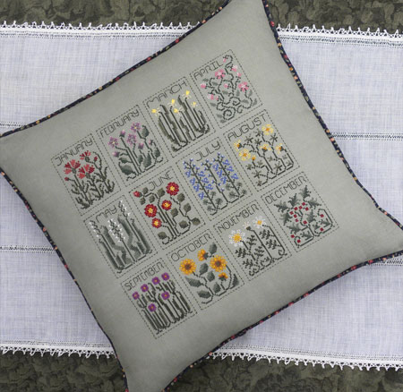 The Drawn Thread - A Year of Flowers - Cross Stitch Pattern