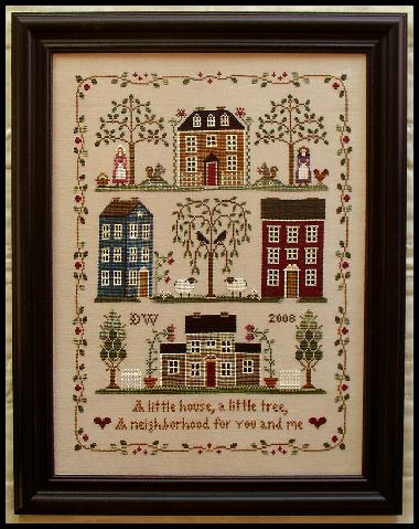 Little House Needleworks - Little House Neighborhood - Cross Stitch Pattern