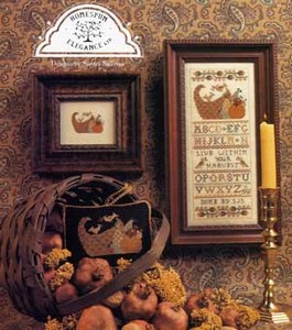Homespun Elegance - Live Within Your Harvest - Cross Stitch Pattern