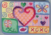Alice Peterson Needlepoint - Stitch & Zip - Happy Hearts - Cosmetic Case