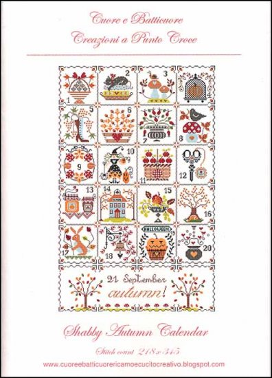 Cuore e Batticuore - Shabby Autumn Calendar
