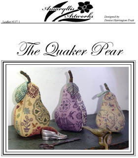Amaryllis Artworks - The Quaker Pear - Cross Stitch Pattern