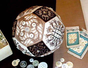 Amaryllis Artworks - The Quaker Button Ball - Cross Stitch Pattern