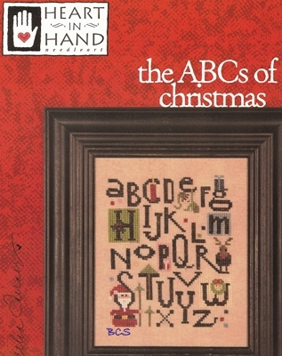 Heart in Hand Needleart - the ABCs of christmas - Cross Stitch Pattern-Heart in Hand Needleart, the ABCs of christmas, sampler, santa claus, reindeer, elf, holly, wreath, present, candle, christmas tree, gift, alphabet, Cross Stitch Pattern