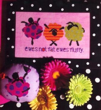 Amy Bruecken Designs - Ewes Not Fat Ewes Fluffy - Cross Stitch Pattern