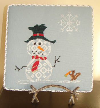 AuryTM - Snow Row Series - Too Scared - Cross Stitch Pattern