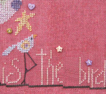 SamSarah Design Studio - The Flock - Part 002 of 12 - Baby Dot Bird - Cross Stitch Pattern