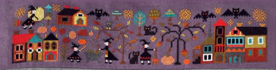 Barbara Ana Designs - A New World Part 1 - The Night of all Fears-Barbara Ana Designs - A New World Part 1 - The Night of all Fears, Halloween, trick or treat, bats, witch, scary, pumpkins, black cats, cross stitch