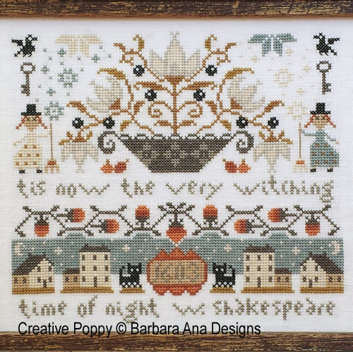 Barbara Ana Designs - Midnight (Tis the very witching...)  Cross Stitch Pattern