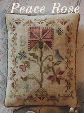 Blackbird Designs - Reward of Merit Pinkeep - Peace Rose - Cross Stitch Pattern