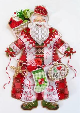 Brooke's Books - Spirit Of Christmas Stitching Santa Ornament Chart Pack