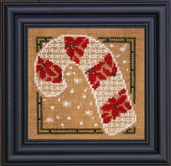 Bent Creek - Candy Cane of Christmas Kit-Bent Creek - Candy Cane of Christmas Kit, Christmas candy, peppermint, poinsettia, ornament, cross stitch