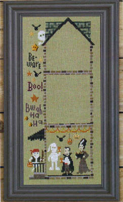 Bent Creek - The Haunted House - Part 1 of 3 - Petrified Party - Cross Stitch Pattern