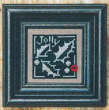 Bent Creek - Holly + White - Cross Stitch Pattern