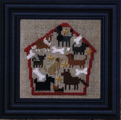 Bent Creek - Dog House of Puppy Dogs Kit-Bent Creek - Dog House of Puppy Dogs Kit, dog bones, treats, mans best friend, cross stitch