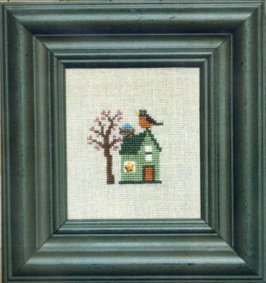 Bent Creek - Robin Laid an Egg Kit-Bent Creek - Robin Laid an Egg Kit, Easter, bunny, spring, Easter Eggs, hunt, cross stitch