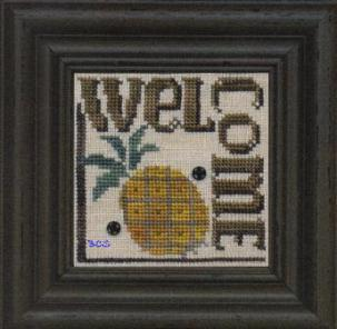 Bent Creek - Welcome to our Home - Snapper Series - Part 3 of 6 - Welcome - Cross Stitch Pattern-Bent Creek, Welcome to our Home, Snapper Series, Part 3 of 6,  Welcome, pineapple welcome, Cross Stitch Pattern