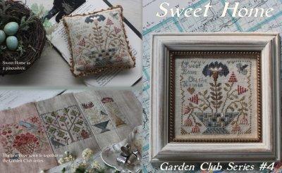Blackbird Designs - Garden Club Series Part 04 - Sweet Home-Blackbird Designs - Garden Club Series Part 4 - Sweet Home,flowers, home sweet home,