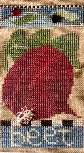 SamSarah Design Studio - Farmer's Market Veggie Stand Banner - Chart 1 of 6 - Fresh Beet - Cross Stitch Pattern