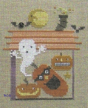 Bent Creek - District 13 - Jacks in the Box - Snapper - Cross Stitch Pattern-Bent Creek, District 13, Jacks in the Box,  ghost, pumpkins, bats, house, moon, stars, Snapper - Cross Stitch Pattern