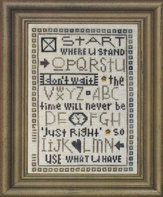Bent Creek - Start Where U Stand Sampler - Cross Stitch Pattern