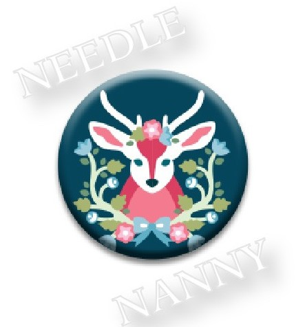 Stitch Dots - Baltimore Woods Needle Nanny-Stitch Dots - Baltimore Woods Needle Nanny, reindeer, Christmas, magnet, cross stitch