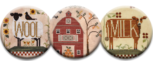 Stitch Dots - Vintage Farm Magnet Collection by Little House Needleworks
