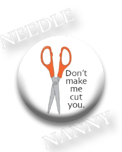 Stitch Dots - Don't Make Me Needle Nanny-Stitch Dots - Dont Make Me Needle Nanny, dont make me cut you, magnet, cross stitch, scissors,