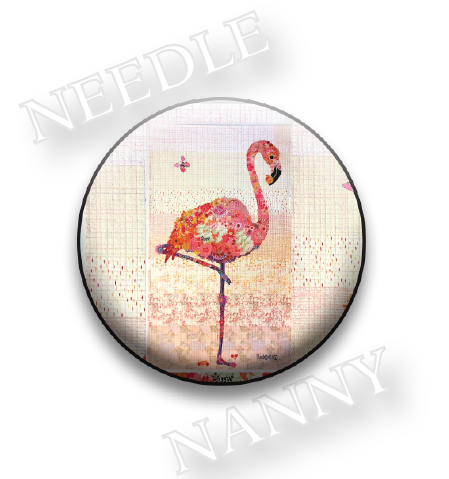 Stitch Dots - Flamingo Needle Nanny-Stitch Dots - Flamingo Needle Nanny, bird, magnet, cross stitch