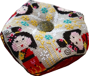 Barbara Ana Designs - Kokeshi Biscornu - Cross Stitch Chart